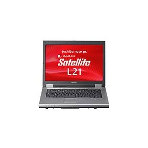 東芝 15.4型ノートパソコン dynabook Satellite L21 220C/W(XPダウングレード) PSL2122CW9R1G - 拡大画像