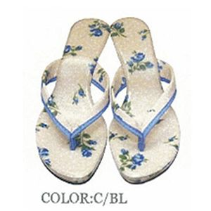 La Cotone ミュールサンダル ブルー 【M】23.0cm - 拡大画像
