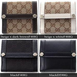 GUCCI(グッチ) GGキャンバス 折り財布154117D590G ブラック - 拡大画像