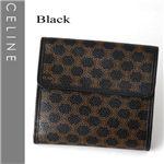 CELINE(セリーヌ) Wホック財布 102723-7 ブラック【送料無料】