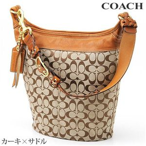 COACH(コーチ) 日本未入荷!ショルダーバッグ 11438 カーキ×サドル
