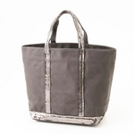 Vanessa Bruno トートバッグ CANVAS SPANGLE MEDIUM 998・Anthracite【送料無料】