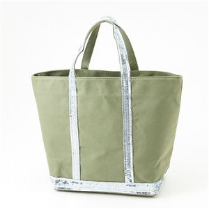 Vanessa Bruno トートバッグ CANVAS SPANGLE MEDIUM 663・Vegetal