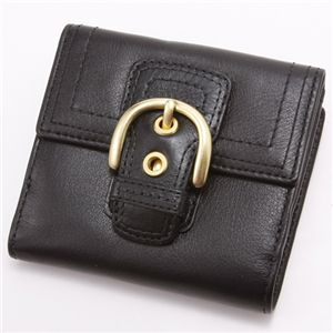 COACH(コーチ) ダブルホック財布 41262・小レザー Black