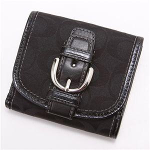 COACH(コーチ) ダブルホック財布 42057・小シグネチャー Black
