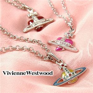 Vivienne Westwood(ヴィヴィアンウエストウッド) ネックレス Diamante Heart/Enamel Orb 207 19021 001・Pink