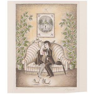 Raymond Peynet(レイモンペイネ)リトグラフ ハートのプレゼント