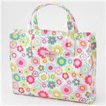 Cath Kidston(���㥹���åɥ���) �����륯�?����꡼������Хå� 253826��Electric Flowers White