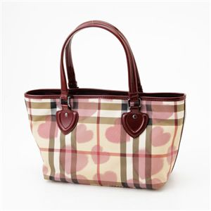 BURBERRY(バーバリー) ハートバッグ Nova Heart/Berry Red