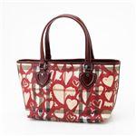 [送料無料]BURBERRY(バーバリー) ハートバッグ Print Heart/Berry Red