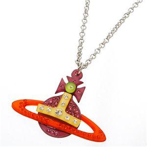 Vivienne Westwood(ヴィヴィアン・ウエストウッド) オーブネックレス MULTI 2374 1015 001 オレンジ×ピンク