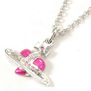 Vivienne Westwood(ヴィヴィアン・ウエストウッド) ネックレス Diamante Heart Orb 207 19021 001 PINK