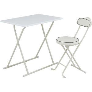 テーブル&チェアー組 YS-067BWH - 拡大画像