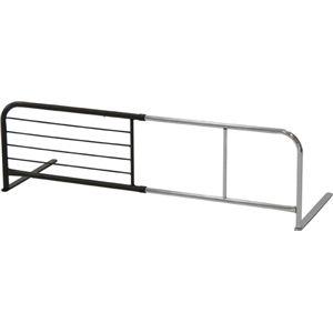 スライドベッドガード (横伸縮式) スチール 幅95〜120cm×奥行40cm×高さ35.5cm BR ブラウン