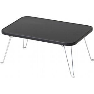 カラーミニテーブル/折りたたみテーブル 長方形(幅45cm×奥行30cm×高さ19cm) BK ブラック(黒) - 拡大画像