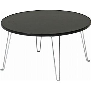 カラーテーブル/折りたたみテーブル 丸60 丸型 CCB600BK ブラック(黒) - 拡大画像