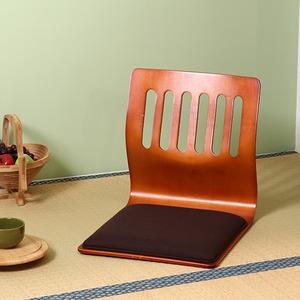 座椅子/和座いすクッション付き 木製 PY-307BS BR ブラウン - 拡大画像