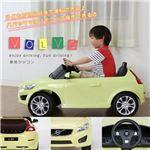 乗用ラジコンカー 【ボルボ C30 YE(イエロー/黄)】 音/ライト付き MP3プレーヤー接続可 (乗用玩具/おもちゃ)【組立品】