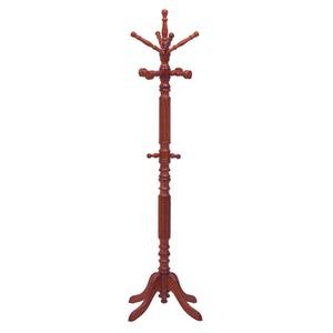イタリアンコートハンガー(ポールハンガー) 木製 幅62cm×奥行62cm×高さ189cm ブラウン【組立品】