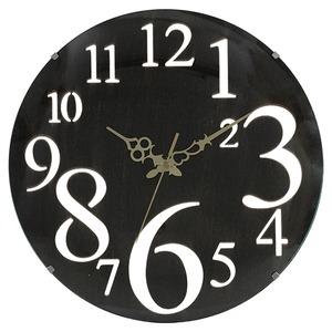 壁掛け時計 レトロ ブラウン - 拡大画像