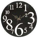 壁掛け時計 レトロ ブラウン