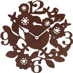 壁掛け時計 【フォレスト】 ヨーロッパ調 ブラウン (インテリア雑貨)