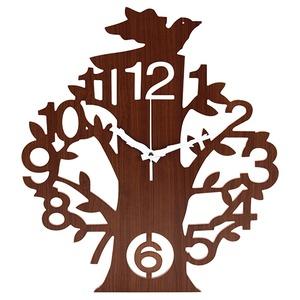 壁掛け時計 【ツリー】 ヨーロッパ調 ブラウン (インテリア雑貨) - 拡大画像