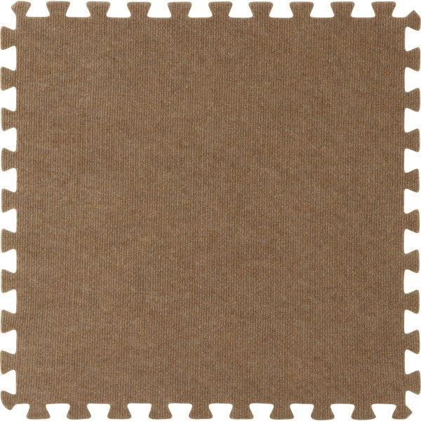 ジョイントマット カーペット 60cm 4枚組 ブラウン