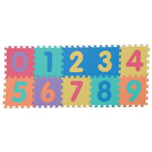 パズルマット(10枚セット) すうじ - 拡大画像