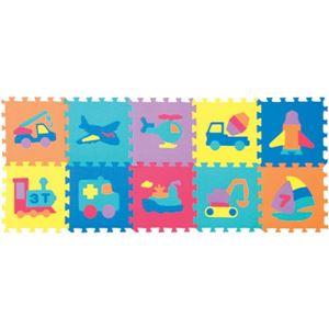 パズルマット(10枚セット) のりもの - 拡大画像