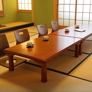 折りたたみテーブル/折脚和風座卓(額縁・幅120cm×奥行75cm) 木製 TLM-12075オーク材 【完成品】 - 拡大画像