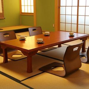 折りたたみテーブル/折脚和風座卓(額縁・幅150cm×奥行75cm) 木製 TLM-15075オーク材 【完成品】 - 拡大画像