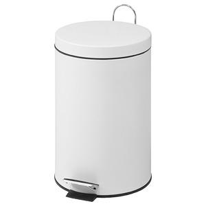 ダストボックス(ゴミ箱)/スチール ラウンドペダルペール 丸型 20L ホワイト(白)