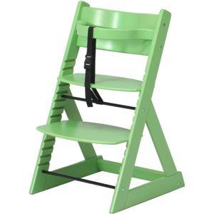 ベビーチェア/キッズチェア(グローアップチェアー)高さ調整可グリーン(緑)【組立品】