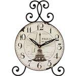 置時計/アイアンスタンドクロック 【エッフェル塔】 アンティーク調 [インテリア雑貨]