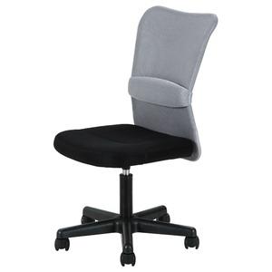 デスクチェア(椅子)/メッシュバックチェアー ハンター ガス圧昇降機能付き キャスター付き GY グレー(灰) - 拡大画像