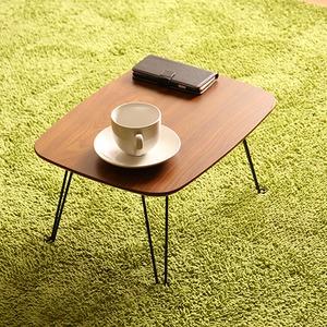 北欧風 折れ脚ローテーブル/サイドテーブル 【マイルドブラウン】 幅40cm 折りたたみ 『トロン』
