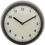 北欧風 レトロクロック/時計 【ブラック】 幅23.5cm スチール・ガラス製 〔リビング ダイニング〕