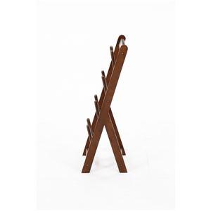 北欧風 スリッパラック/ルームシューズラック 【ブラウン】 幅275mm 折りたたみ 木製 〔玄関 来客〕