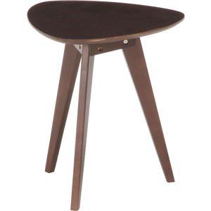 アンティーク調 コーヒーテーブル/ローテーブル 【小 ブラウン】 幅39.5cm 木製 〔リビング ダイニング 寝室〕