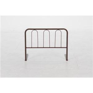 ベッドガード/ベッドフェンス 【ハイタイプ ブラウン】 幅60cm×高さ45cm 厚めマットレス対応 〔子供 介護〕【完成品】