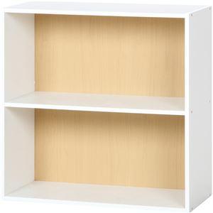 北欧風 カラーボックス/収納棚 【2段 ナチュラル】 正方形 幅60cm 『ユニットKDボックス ワイアード』