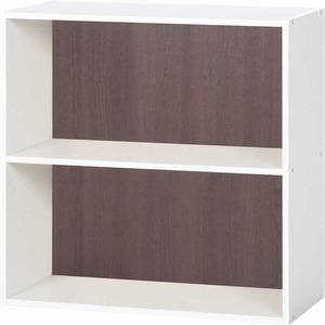 北欧風 カラーボックス/収納棚 【2段 ブラウン】 正方形 幅60cm 『ユニットKDボックス ワイアード』