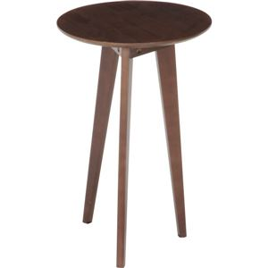 アンティーク調 コーヒーテーブル/ローテーブル 【中 ブラウン】 幅40cm 木製 〔リビング ダイニング 寝室〕