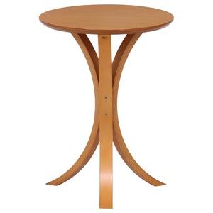 北欧風 サイドテーブル/ローテーブル 【ナチュラル】 幅40cm 木製 〔リビング ダイニング〕