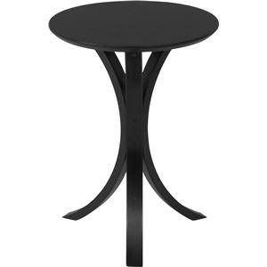 北欧風 サイドテーブル/ローテーブル 【ブラック】 幅40cm 木製 〔リビング ダイニング〕