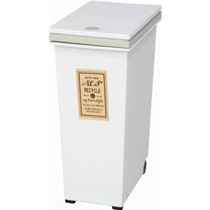 プッシュ式ダストボックス/ゴミ箱 【30L アイボリー】 幅37cm ポリプロピレン製 キャスター付き 『アルフ』