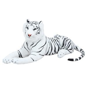 子供用 ぬいぐるみ/人形 【ホワイトタイガー型】 幅27cm 〔おもちゃ 子ども部屋〕