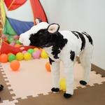 子供用 ぬいぐるみ/人形 【牛(S)型】 幅16cm 〔おもちゃ 子ども部屋〕