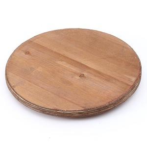 ビンテージ風 ブリキスツール/収納ボックス 【シルバー】 直径27cm×高さ41cm スチール製 天然木座面 〔インテリア家具 什器〕 の画像